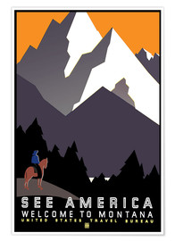 Poster  See America - Welcome to Montana