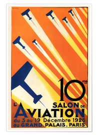 Poster  10 Salon de Aviation - Paris 1926