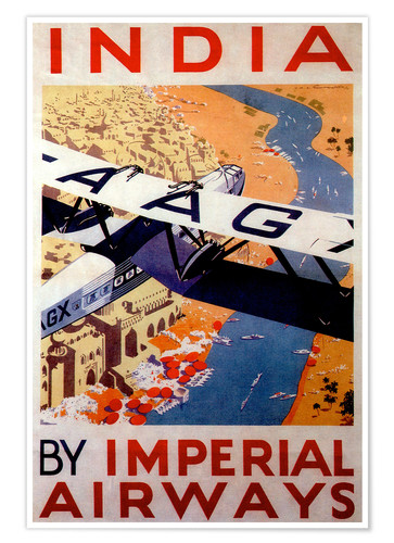 Poster India by Imperial Airways