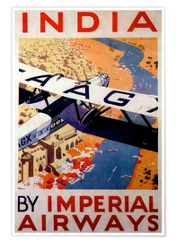 Poster  India tour with Imperial Airways