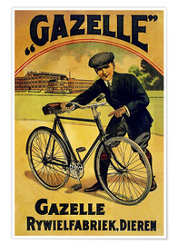 Poster  Gazelle Rywielen Bicycle