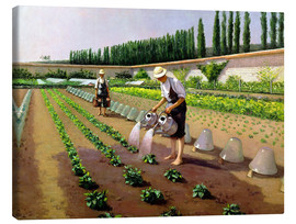 Toile  Les jardiniers - Gustave Caillebotte