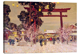 Toile  View of a Shinto Shrine, c.1889 - Sir Alfred East
