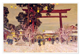 Poster  View of a Shinto Shrine, c.1889 - Sir Alfred East