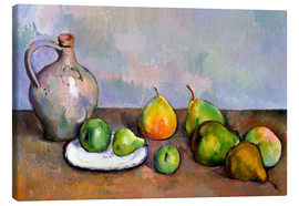 Tableau sur toile  Pitcher and Fruit - Paul Cézanne
