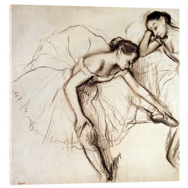 Verre acrylique  Two Dancers Resting - Edgar Degas