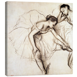 Toile  Two Dancers Resting - Edgar Degas