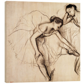 Bois  Two Dancers Resting - Edgar Degas
