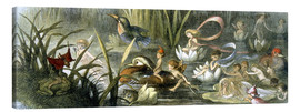 Tableau sur toile  Water-Lilies and Water Fairies - Richard Doyle