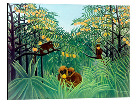 Alu-Dibond  Singes dans la jungle - Henri Rousseau