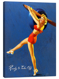 Tableau sur toile  Pin Up - Ready to Take Off - Al Buell
