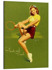 Tableau en aluminium  Pin-up en short (anglais) - Al Buell