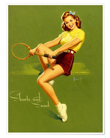 Poster  Pin-up en short (anglais) - Al Buell