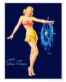 Poster  Pin Up - Ship Shape - Al Buell