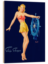Tableau en bois  Pin Up - Ship Shape - Al Buell