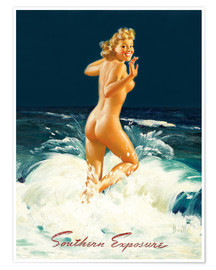 Poster  Pin-up Southern Exposure - Al Buell