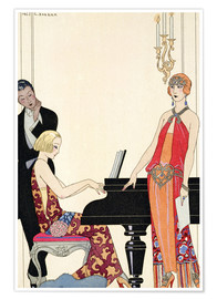 Poster  Incantation - Illustration pour la Gazette du Bon Ton, 1922 - Georges Barbier