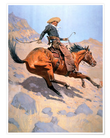 Poster  Le Cow-boy - Frederic Remington