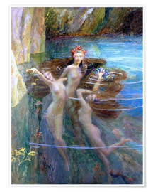 Poster  Water Nymphs 1927 - Gaston Bussiere