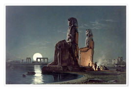 Poster  The Colossi of Memnon, Thebes - Carl Friedrich Heinrich Werner