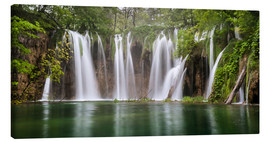 Tableau sur toile  Paradise like waterfall in plitvice - Andreas Wonisch