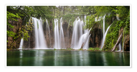 Poster  Paradise like waterfall in plitvice - Andreas Wonisch