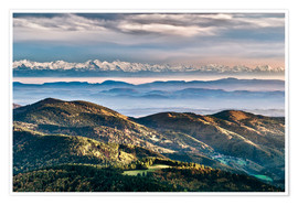 Poster  Black Forest Alps Panorama - Andreas Wonisch