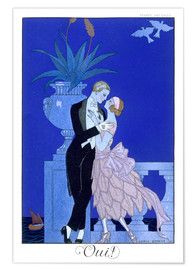 Poster  Yes! 1921 - Georges Barbier
