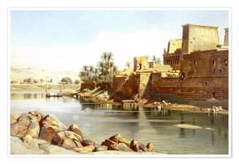 Poster  Temple of Isis at Philae - Carl Friedrich Heinrich Werner