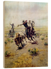 Bois  Cowboy Roping a Steer - Charles Marion Russell
