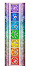 Poster  The Seven Chakras - Series II -Artwork II - Dirk Czarnota