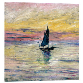 Verre acrylique  Sailboat evening - Claude Monet