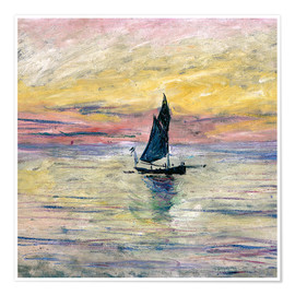 Poster  Sailboat evening - Claude Monet