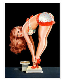Poster  Pin-up sur une balance - Peter Driben