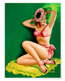 Poster  Pin Up with Hat - Peter Driben