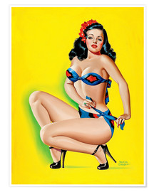 Poster Pin Up in a Bikini