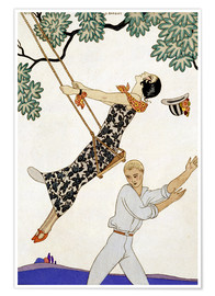 Poster  The Swing, 1920s - Georges Barbier