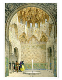 Poster  The Hall of the Abencerrages, the Alhambra, Granada, 1853 - Léon Auguste Asselineau