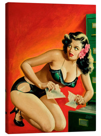 Tableau sur toile  Pin Up - Special Detective - Peter Driben