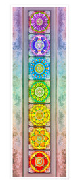 Poster  The Seven Chakras - Series III -Artwork II - Dirk Czarnota