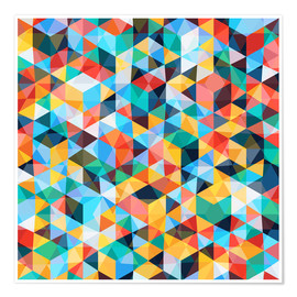 Poster  Abstract Mosaic Pattern - TAlex