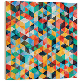 Tableau en bois  Abstract Mosaic Pattern - TAlex