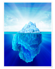Poster Solitary iceberg in the sea.