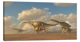 Toile  A herd of Argentinosaurus dinosaurs - Corey Ford