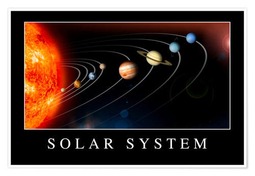 Poster Solar System Poster