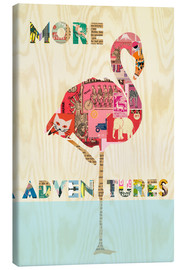 Tableau sur toile  Collage flamant rose - GreenNest