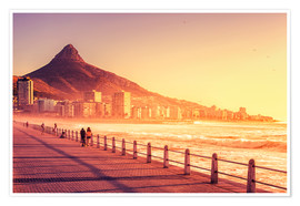 Poster  Sunset, Cape Town, South Africa - Stefan Becker