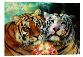 Verre acrylique  Tiger Lillies - Selina Morgan