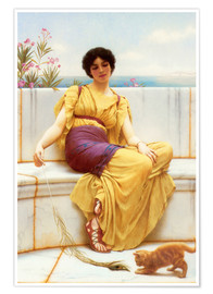 Poster  Oisiveté - John William Godward