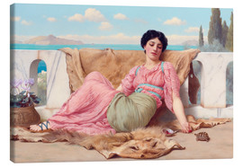 Tableau sur toile  A Quiet Pet - John William Godward